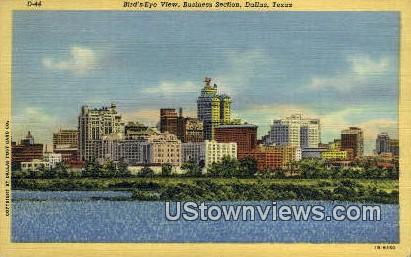 Business Section - Dallas, Texas TX Postcard