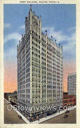 Kirby Bldg - Dallas, Texas TX Postcard