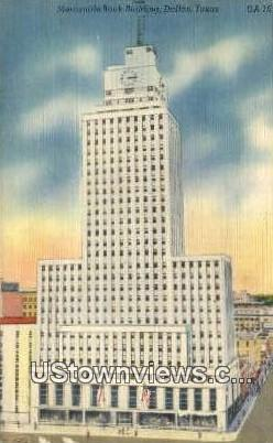 Mercantile Bank Bldg - Dallas, Texas TX Postcard