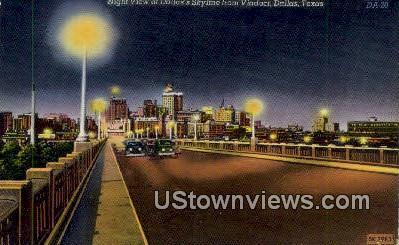 Viaduct - Dallas, Texas TX Postcard