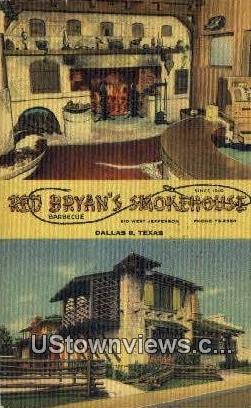 Red Bryan's Smokehouse - Dallas, Texas TX Postcard