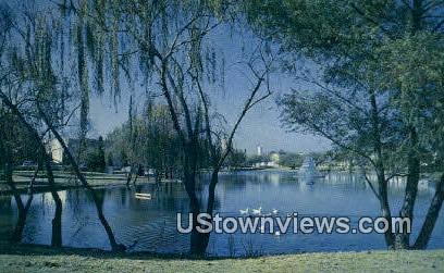 Texas State Fair Grounds Lagoon - Dallas Postcard