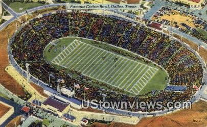 Cotton Bowl - Dallas, Texas TX Postcard