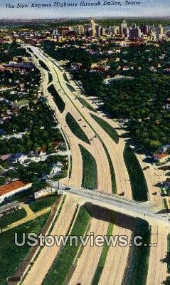 New Express Highway - Dallas, Texas TX Postcard