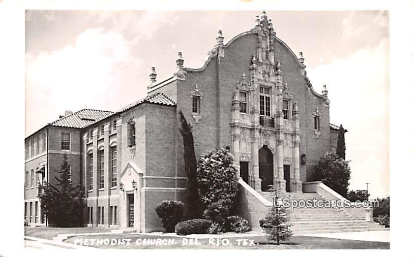 Methodist Church - Del Rio, Texas TX Postcard
