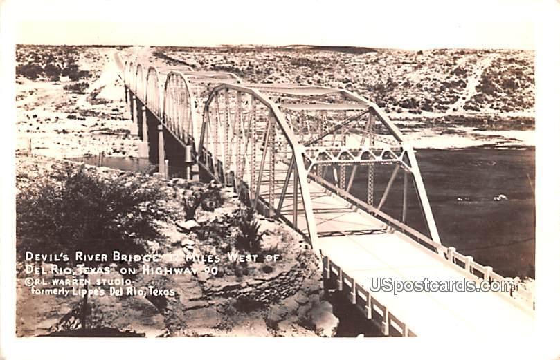 Devil's River Bridge - Del Rio, Texas TX Postcard