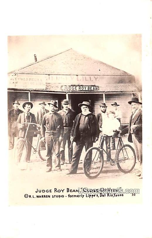 Judge Roy Bean Close Up View - Del Rio, Texas TX Postcard