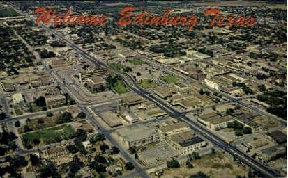 Aerial View - Edinburg, Texas TX Postcard