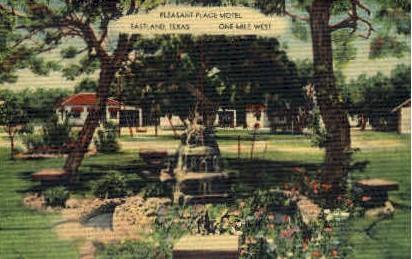 Pleasant Place Motel - Eastland, Texas TX Postcard