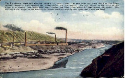 The Rio Grande - El Paso, Texas TX Postcard