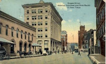 Oregon Street - El Paso, Texas TX Postcard