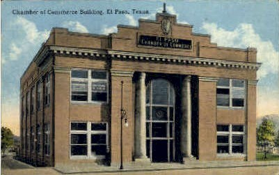 Chamber of Commerce - El Paso, Texas TX Postcard