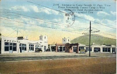 Camp Grande - El Paso, Texas TX Postcard