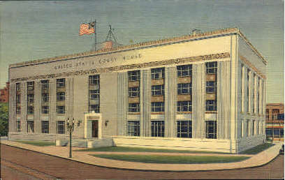 Court House - El Paso, Texas TX Postcard