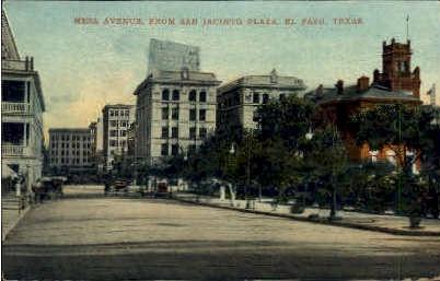 Mesa Avenue - El Paso, Texas TX Postcard