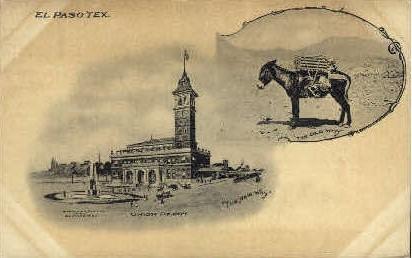 Union Depot - El Paso, Texas TX Postcard