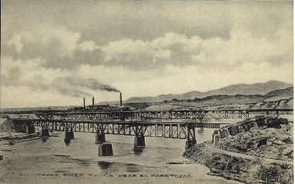 Rio Grande - El Paso, Texas TX Postcard
