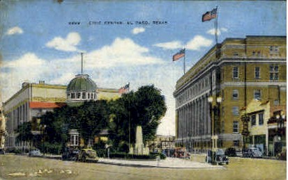 Civic Center at Fair Park - El Paso, Texas TX Postcard