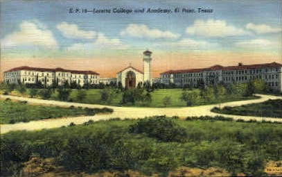Loretta College - El Paso, Texas TX Postcard