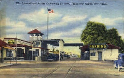 International Bridge  - El Paso, Texas TX Postcard