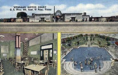 Weseman Motor Court - El Paso, Texas TX Postcard