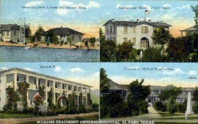 William Beaumont General Hospital - El Paso, Texas TX Postcard