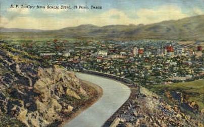 Scenic Drive - El Paso, Texas TX Postcard