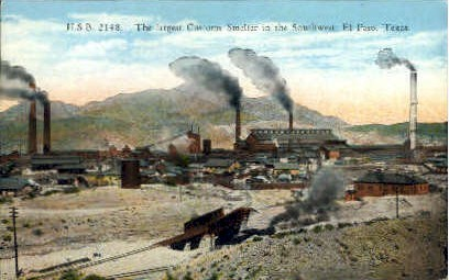 Customs Smelter - El Paso, Texas TX Postcard