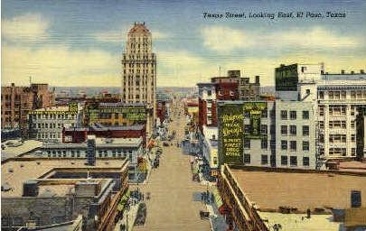 Texas Street - El Paso Postcard