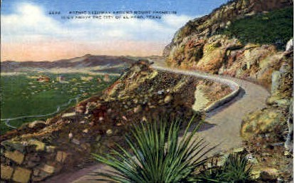 Around Mt Franklin - El Paso, Texas TX Postcard