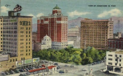 Downtown - El Paso, Texas TX Postcard