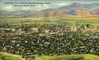 Business Section - El Paso, Texas TX Postcard