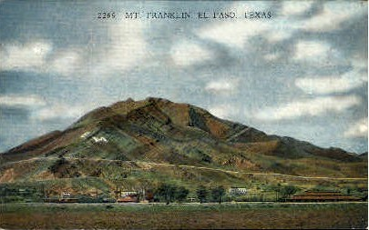Mount Franklin - El Paso, Texas TX Postcard
