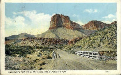 Guadalupe Peak - El Paso, Texas TX Postcard