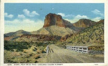 Signal Peak - El Paso, Texas TX Postcard