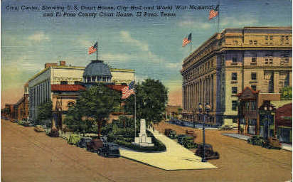U. S. Court House - El Paso, Texas TX Postcard
