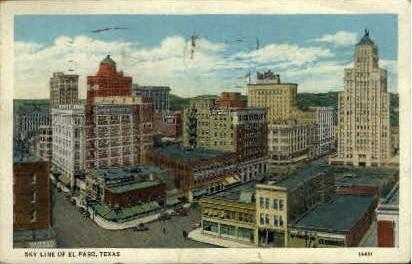 Sky Line - El Paso, Texas TX Postcard