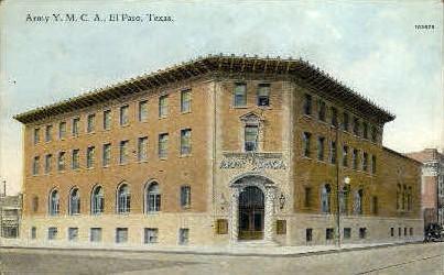 Army Y. M. C. A - El Paso, Texas TX Postcard