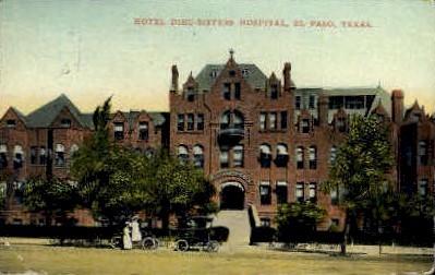 Hotel Dieu-Sisters - El Paso, Texas TX Postcard