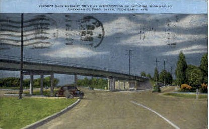 Viaduct - El Paso, Texas TX Postcard