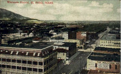 Wholesale District - El Paso, Texas TX Postcard