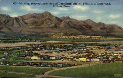 Fort Bliss - El Paso, Texas TX Postcard