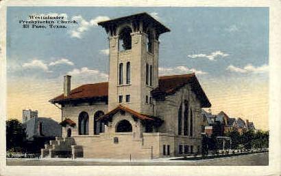 Westminister Presbyterian Church - El Paso, Texas TX Postcard