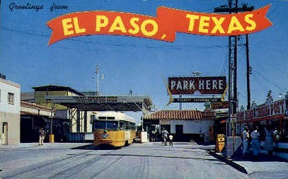 Greetings - El Paso, Texas TX Postcard