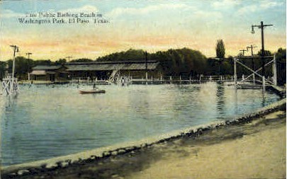 Free Public Bathing Beach - El Paso, Texas TX Postcard