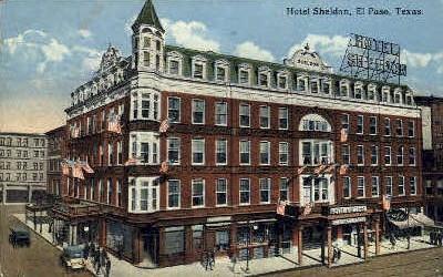Hotel Sheldon - El Paso, Texas TX Postcard