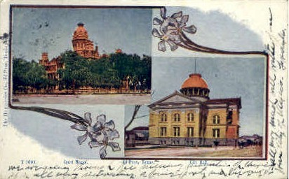 Court House And City Hall - El Paso, Texas TX Postcard