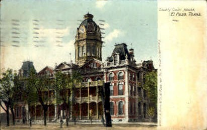 Country Court House - El Paso, Texas TX Postcard