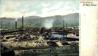 El Paso Smelter - Texas TX Postcard
