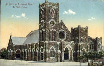 St. Clements Church - El Paso, Texas TX Postcard